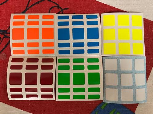 Stickers 3x3x5 vinil half bright