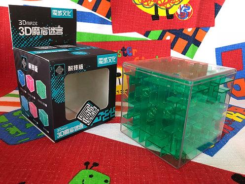 Moyu Cubo Laberinto 3D 80mm verde transparente