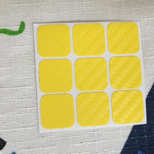 Cara 3x3 estándar fibra de carbono amarillo