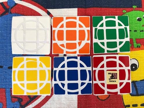 Stickers 3x3 Crazy Dayan Saturno vinil estándar