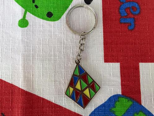 Llavero plano pyraminx patrón