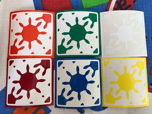 Stickers gear skewb vinil colores estándar