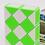 Thumbnail: QiYi Twisty snake 24 piezas verde con blanco