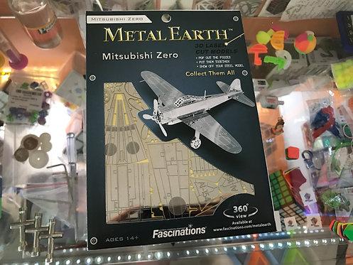Puzzle metálico 3D Mitsubishi Zero Avión