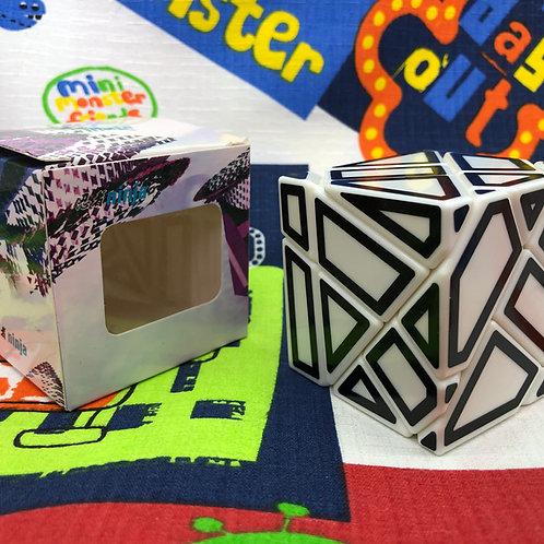 Ninja ghost 3x3 Hollow stickers base blanca