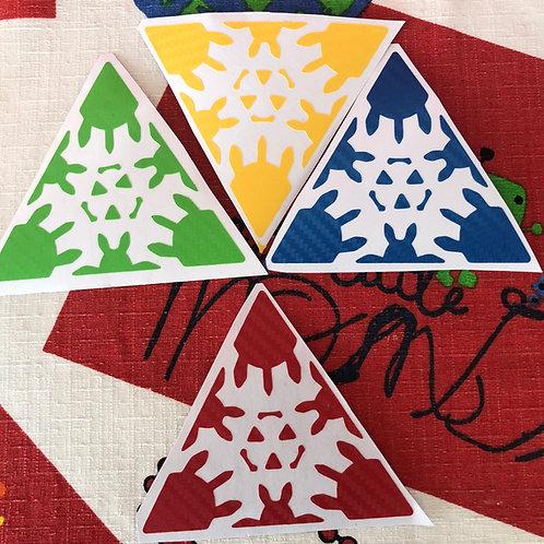 Stickers gear pyraminx fibra de carbono colores estándar