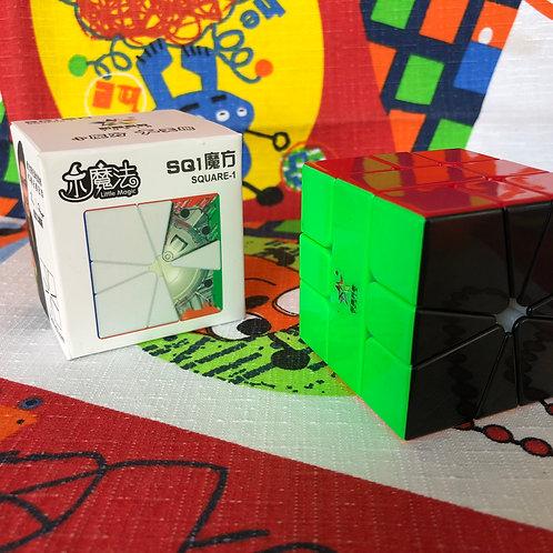 Yuxin Square 1 Little Magic magnético stickerless cara negra