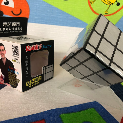 QiYi Mirror 3x3 base negra plateado
