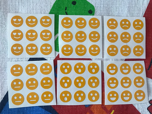 Stickers 3x3 vinil smileys