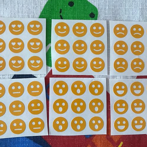 Stickers 3x3 vinil smileys