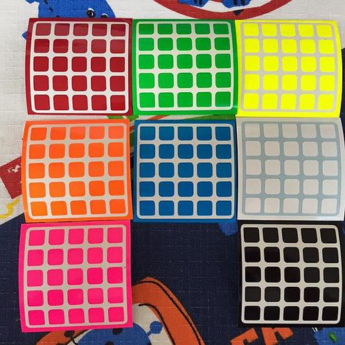 Stickers 5x5 vinil half bright