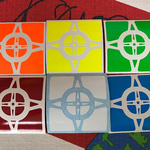 Stickers Wheel of Time vinil half bright