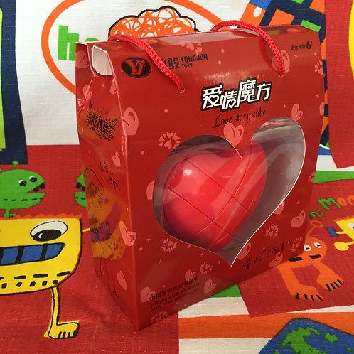 YJ Corazón 3x3 rojo con caja