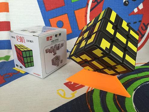 Qiyi 3x3 maze base negra negro con amarillo