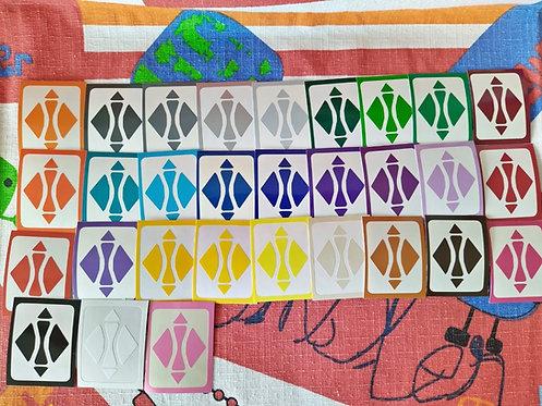 Stickers Megaminx 30 tonos vinil QiHeng