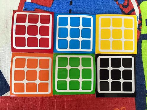 Stickers 3x3 Moyu vinil colores estándar