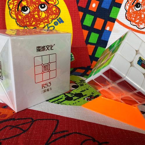 3x3 Moyu MoFangJiaoShi MF3RS3 v3 base blanca