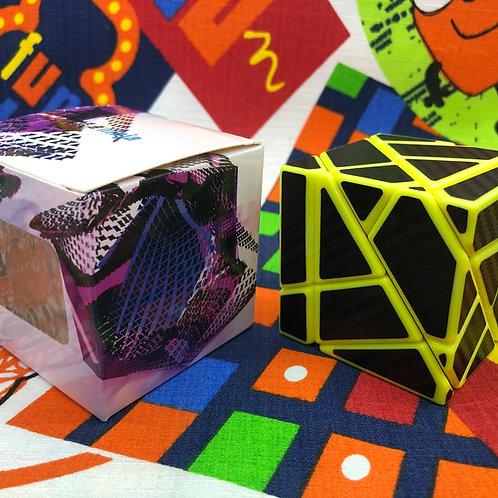 Ninja ghost 3x3 base amarilla stickers de fibra de carbono negro