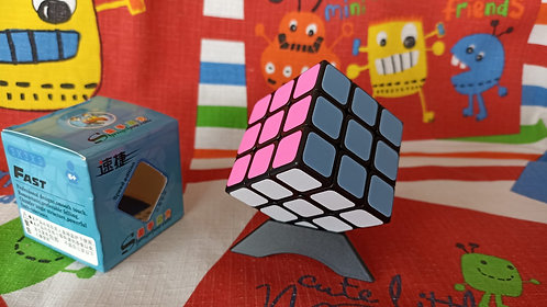 3x3 ShengShou Sujie colores pastel base negra