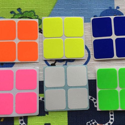 Stickers 2x2 vinil colores fosforescentes