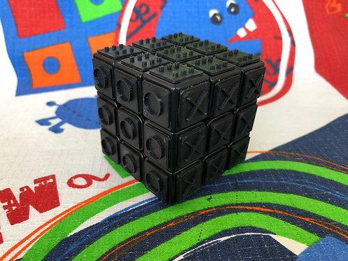 3x3 Rubik con tiles negros impresas en 3D para armar a ciegas base negra