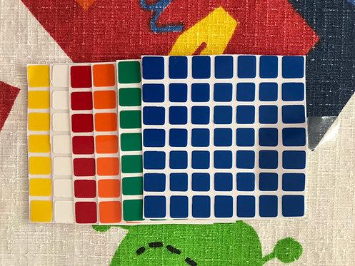 Stickers 7x7 Shengshou mini vinil colores estándar