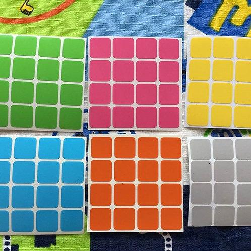 Stickers 4x4 vinil colores pastel