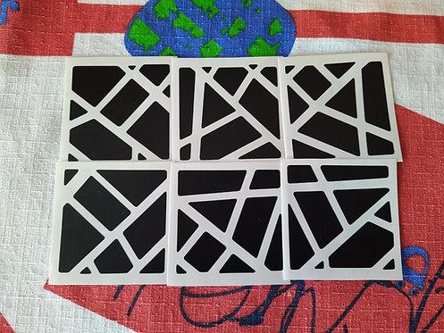 Stickers Ghost 3x3x3 vinil negro mate