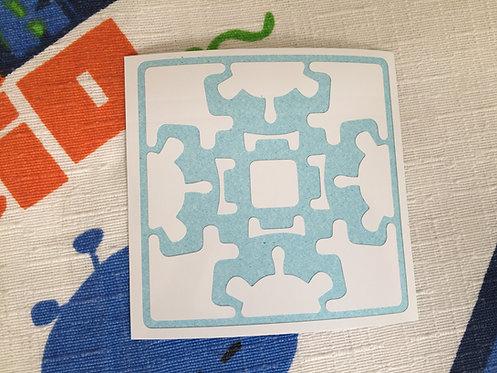 Cara gear cube vinil blanco