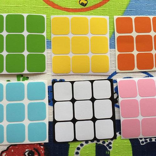 Stickers 3x3 vinil colores pastel
