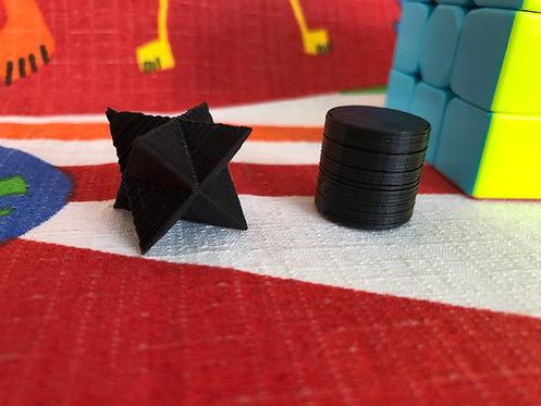 Icosaedro estrella negro