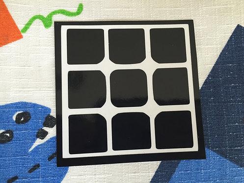 Cara 3x3 Aolong GT vinil negro