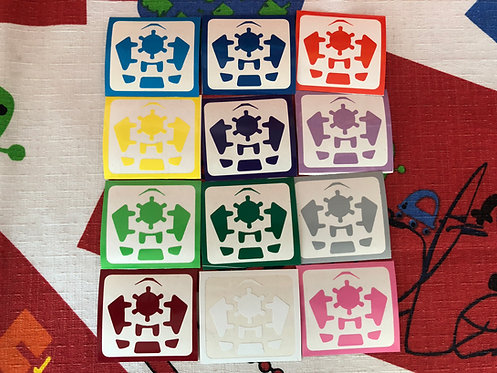Stickers Gear megaminx vinil estándar