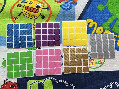 Stickers 4x4 fibra de carbono colores pastel
