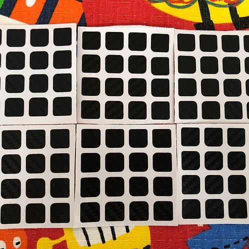 Stickers 4x4 fibra de carbono negro