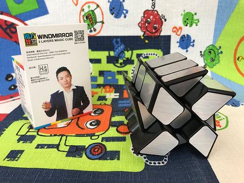 Moyu MoFangJiaoShi Wind Fire Mirror S 3x3 base negra plata