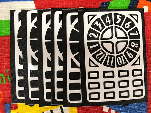 Stickers Time machine fibra de carbono negro