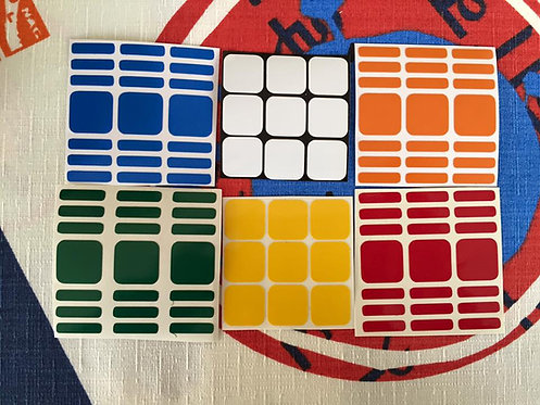 Stickers 3x3x7 vinil colores estándar