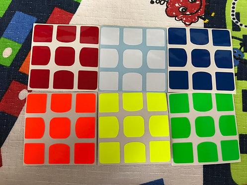 Stickers Z 3x3 QiYi Valk half bright