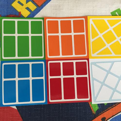 Stickers Wind Fire (Windmill) 3x3 colores estándar