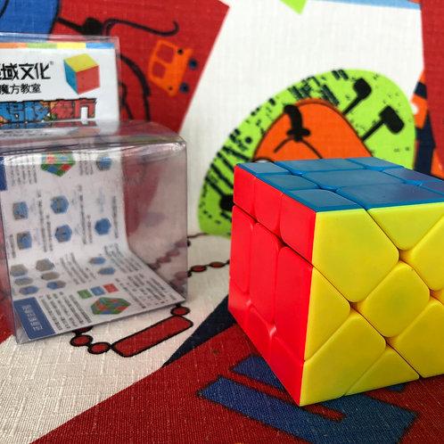 Moyu MoFangJiaoShi Fisher cube stickerless colored