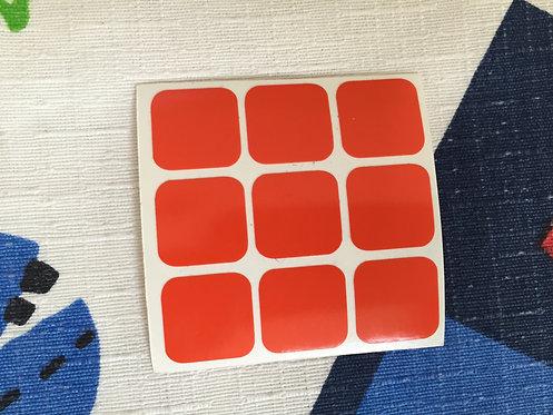 Cara 3x3 estándar vinil naranja #2