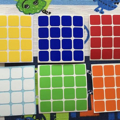 Stickers 4x4 vinil colores estándar