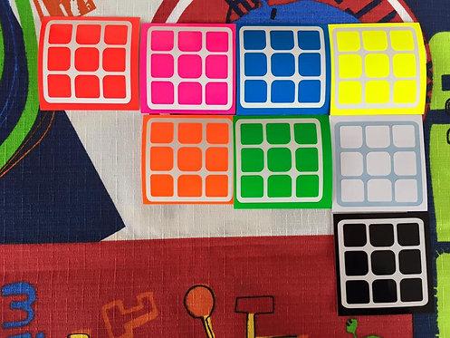 Stickers 3x3 Moyu vinil full bright