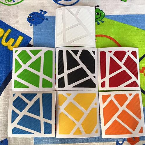 Stickers Ghost fibra de carbono colores clásicos
