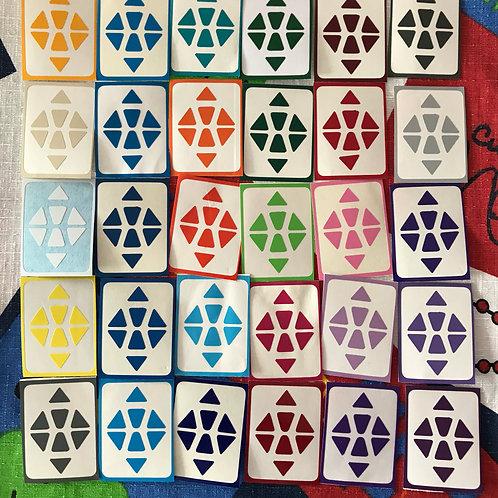 Stickers Megaminx vinil 30 tonos