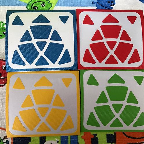 Stickers Mastermorphix fibra de carbono colores estándar