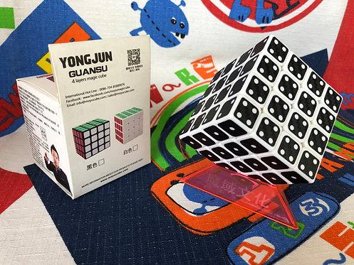 4x4 YJ Guansu base blanca dominó fibra de carbono negro
