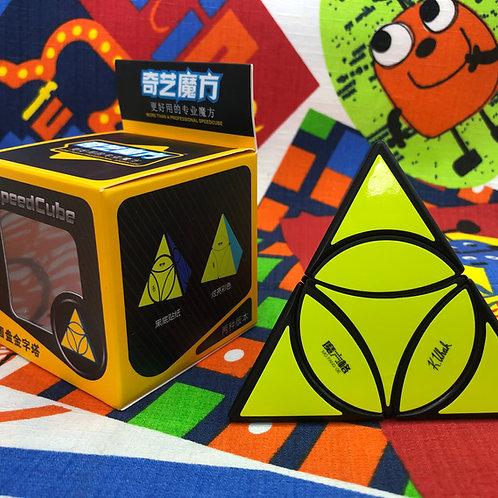 QiYi Coin Tetrahedron Pyraminx base negra