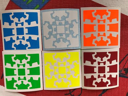 Stickers Gear Cube v2 vinil half bright